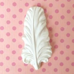 Plâtre miniature Plume Embellissement Ornement, vendu à l'unité
