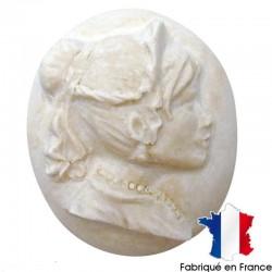 Plâtre miniature Camée Embellissement Ornement   (vendu à l'unité)
