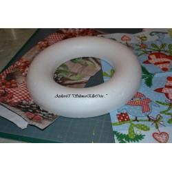 Couronne polystyrène Ø 22 cm semi sphère