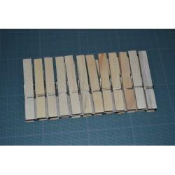 Pinces à linge  en bois, lot de 12 épingles