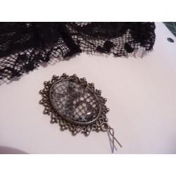 Bague avec Platine en Cuivre Ovale - Argenté -Création de Bijoux