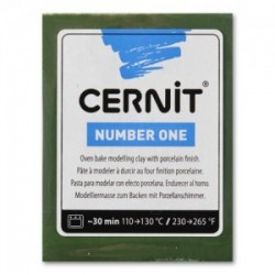Pâte Cernit Number One (56 gr)  - Vert Olive  N° 645