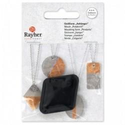 Mini moule losange pour pendentif à créer, Adapté Au Béton , 3.9 cm x 2.9 cm