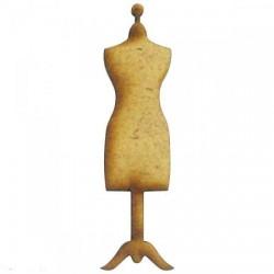 Embellissements Ornements Forme  en bois Mannequin MDF  (Vendu à l'unité  )  1.8 cm x 3.1cm