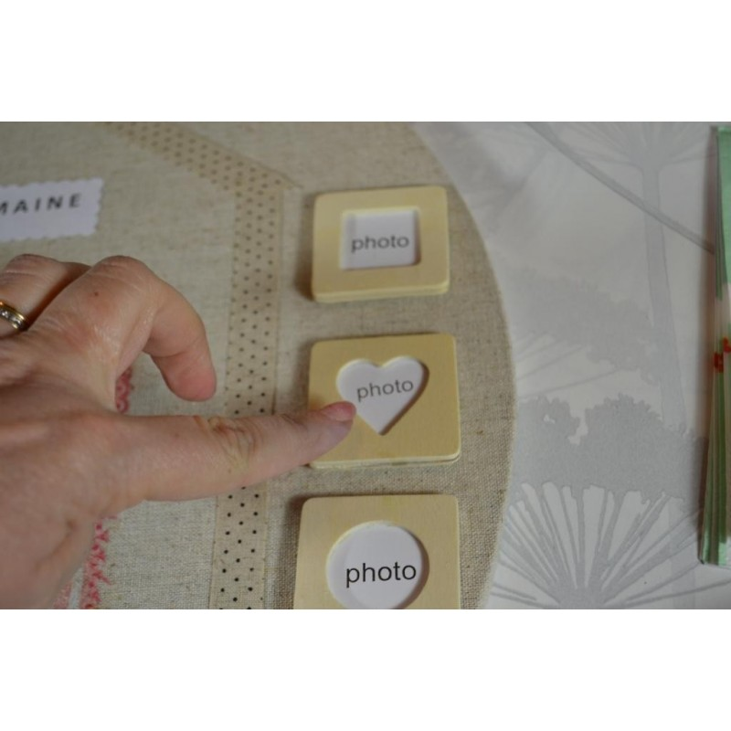 Aimants Magnets Mini Cadres MAGNETIQUES (Lot de 3) - 45 x 45 mm