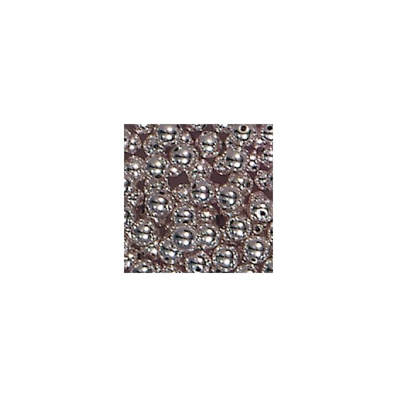 Perles Argentées Galvanisées Plastiques 10 mm (sachets de 10 pièces)
