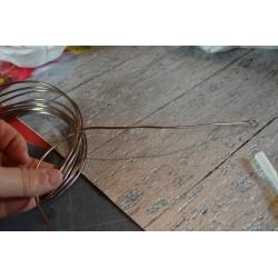 Fil aluminium  Effet DIAMANT Ø 2 MM diamètre VERT clair