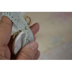 """Galon Imprimé Ecriture SEPIA """"Bouton Esprit Vintage"""" fond crème , vendu au mètre,  Utilisation : Couture, Atelier Déco & Scrap"""