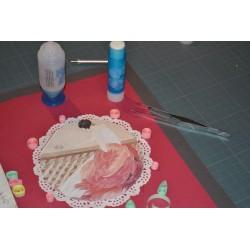 Outil de Quilling, Stylet   2 embouts (1 pointe aiguille 3 cm, 1 bâtonnet de quilling avec fente pour emprisonner le papier)