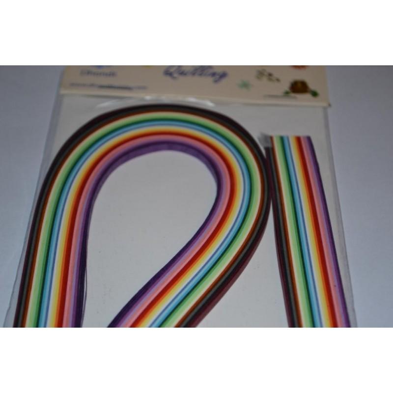 Quilling, Bande de papier pour technique du Quilling (3 mm x 54 cm de longueur - Multicolore)