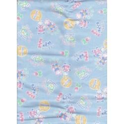 """Tissu Coupon Vintage coton imprimé """"petits Oursons & Bonbons"""" (1.20 cm x 0.95 cm)"""