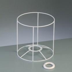 Ossature armature Abat-jour rond tête, 25x25cm, en 2 éléments