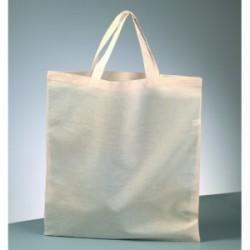 Sac 100 % Coton, sac Cabas ou Sac de plage à customiser,  Coloris : Naturel, Crème