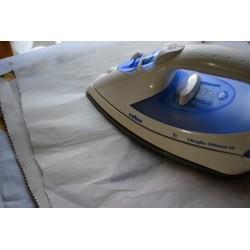 Tablier 100 % Coton, avec Poche à customiser, coloris blanc, 65 x 84 cm