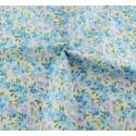 """Coupon Tissu imprimé style """"Shabby """" (Roses bleues/mauves)  40 x 50 cm (vendu à l'unité)"""