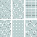 Plastique fou Cristal  Assortiment Motifs de fond (10 x 13 cm) (sachet de 6 feuilles)