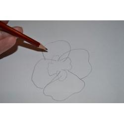 Plastique fou Cristal  Assortiment Motifs  fond ROSE (10 x 13 cm) (sachet de 6 feuilles)
