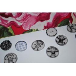Plastique fou Cristal  Assortiment Motifs  blancs sur  fond BLEU (10 x 13 cm) (sachet de 6 feuilles)