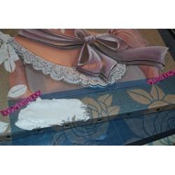 """Image 3 D  """"Femme Chapeau Dentelle"""" image Rétro 30 x 40 (vendue à l'unité) Tableau à réaliser avec technique 3 D"""
