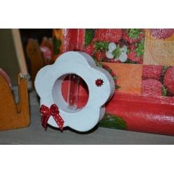 Soliflore, vase miniature  à décorer en Carton  en forme de Fleur