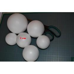 Boule polystyrène  (frigolite), légère et polyvalente (7 cm) vendue à l'unité