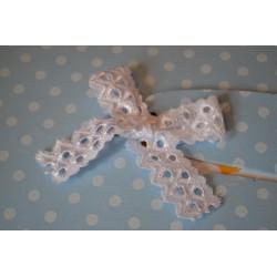 """Plaque de Mousse thermoformable Imprimé """"Papillons blancs """"  TURQUOISE (Grand Format : 60 cm x 40 cm)"""