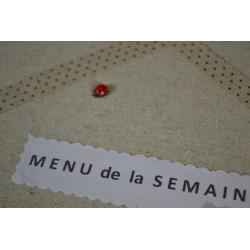 Coccinelles Embellissement (sachet  de 10 pièces)    8 mm  (A coller)