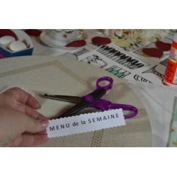 Paire de Ciseaux cranteurs  forme Tuiles   Spécial papier (16 cm)