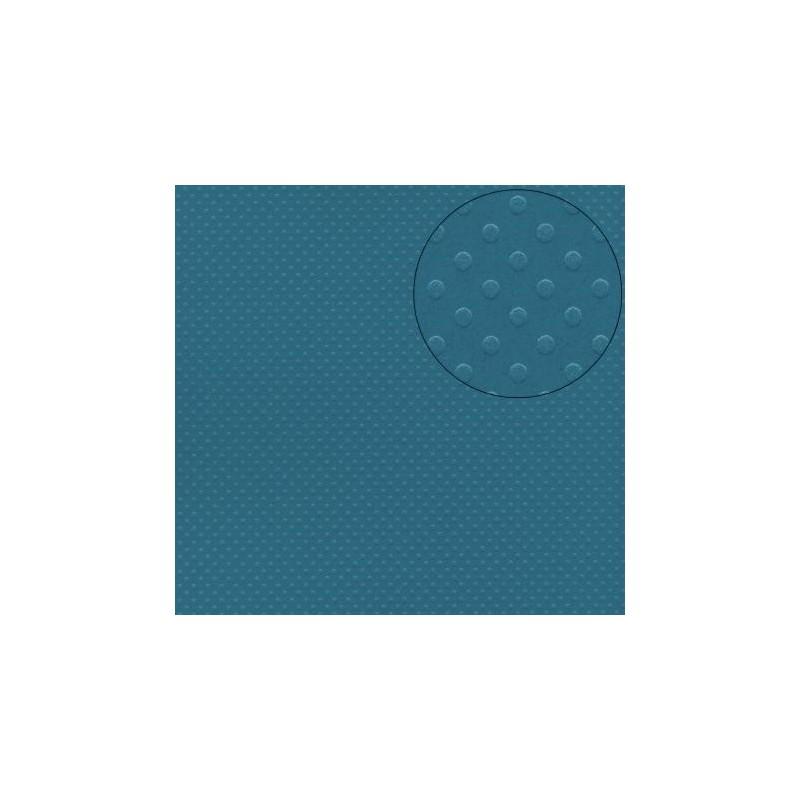 """Papier à pois Feuille  à l'unité Bleu Fond Océan """"SURF"""""""