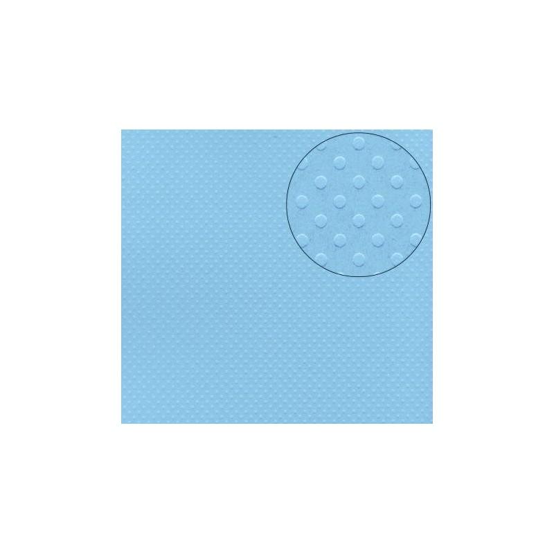 """Papier SCRAP à pois (Coloris Uni) Feuille  à l'unité Bleu Clair """"PISCINE"""""""