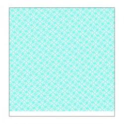 "Papier SCRAP à Motifs 2 faces (fleurs & Rayures)  Bleu clair "" Secret Garden"""