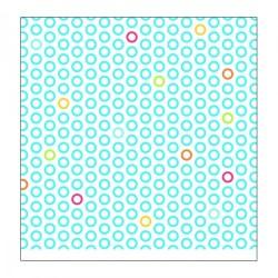 """Papier SCRAP à Motifs 2 faces (Ronds de couleur & Vagues)   Bleu """" Ilma"""""""