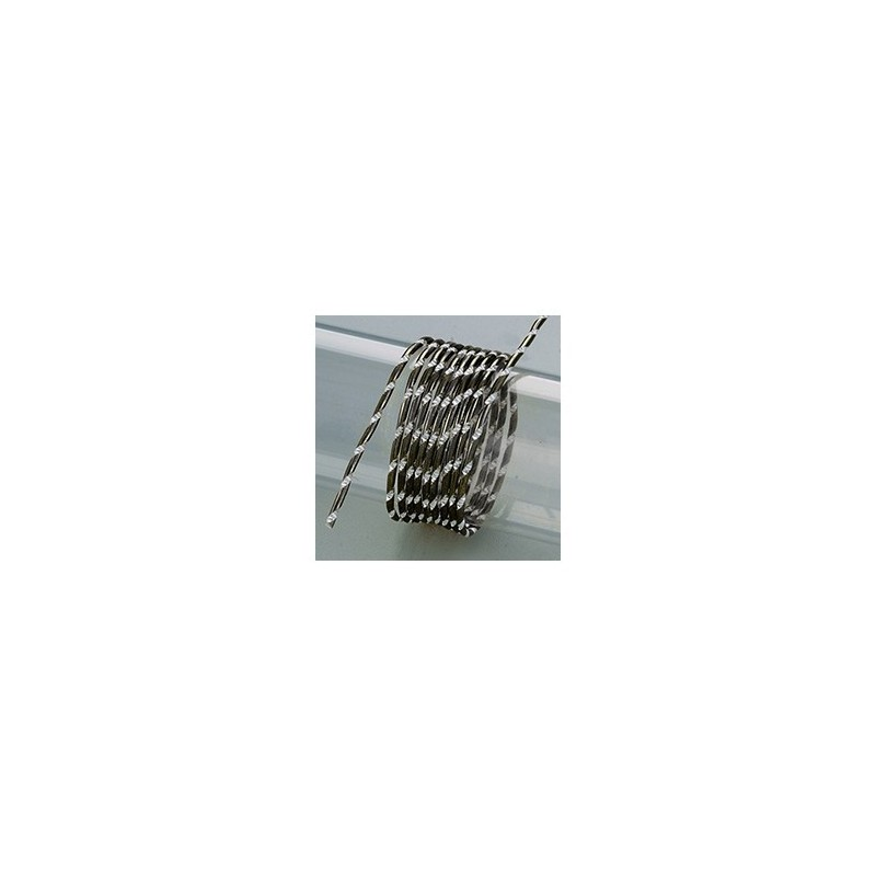 Fil aluminium  Effet DIAMANT Ø 2 MM diamètre Noir