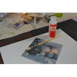 Châssis toile à peindre 30 cm x30 cm, Coton blanc avec contour bois