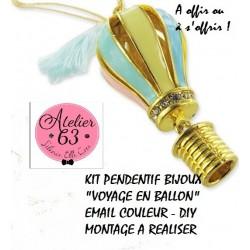"""Kit de Montage Bijoux Pendentif pour Création """"Voyage en Ballon"""""""