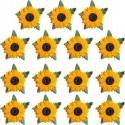 Fleurs en papier 15 Tournesols Embellissement