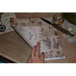 Papier Scrap Vintage VELO 30.5 X 30.5 CM - Vintage 1 feuille avec imprimé Recto Verso