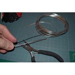 Fil aluminium  DUO  de Couleur Ø 2 MM diamètre  NOIR et FUSHIA