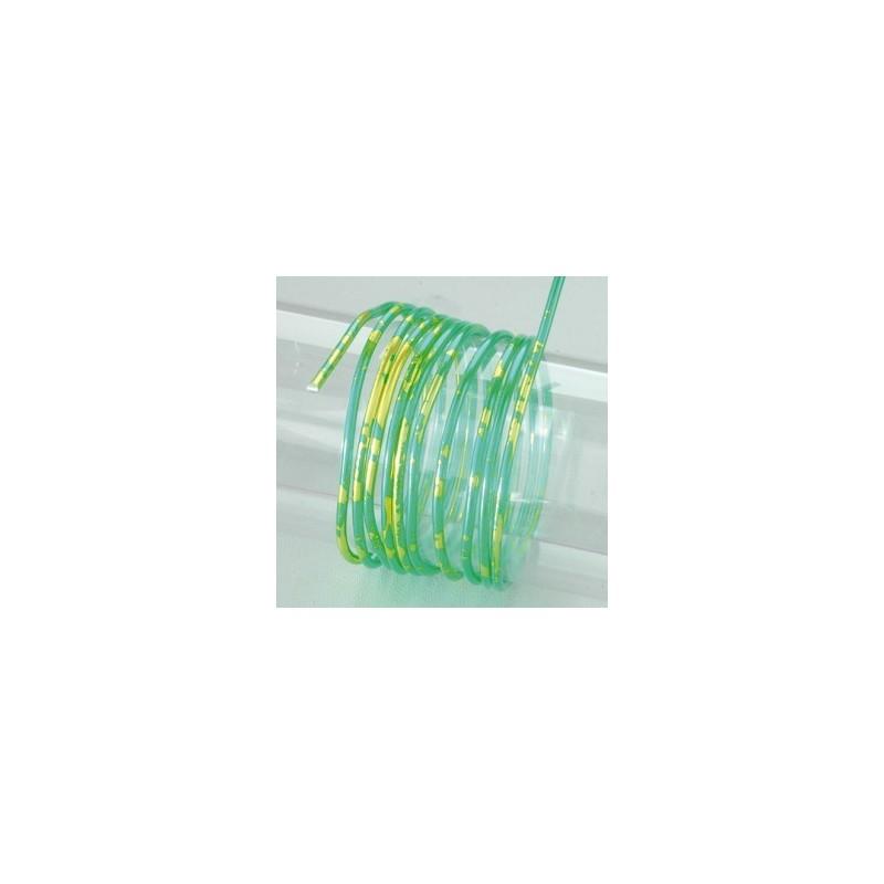 """Fil aluminium  DUO  de Couleur Ø 2 MM diamètre - """"TURQUOISE DORE"""" Vert clair moderne"""
