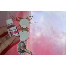 Ruban Large ruban organza blanc à motifs coeurs vendu au mètre (Utilisation : couture, mariage, cadeaux,décoration...)