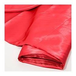 Coupon Tissu Satin uni (Rouge)   (vendu par 0.50m)