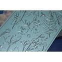 Planche stickers papillons et végétaux fond bleu ciel pour Carterie & Embellissements