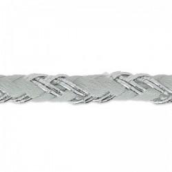 Fil Cordon tressé Coton (Lurex) Gris Argenté 3.5 mm - Vendu au mètre