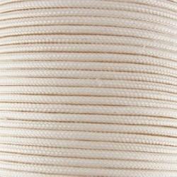Fil TRESSE de SOIE Crème 1.5 mm - Vendu au mètre