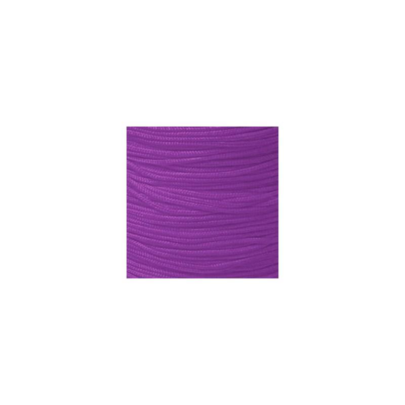 Fil TRESSE de SOIE Améthyst 1.5 mm - Vendu au mètre