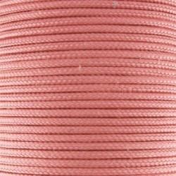 Fil TRESSE de SOIE Saumon 1.5 mm - Vendu au mètre