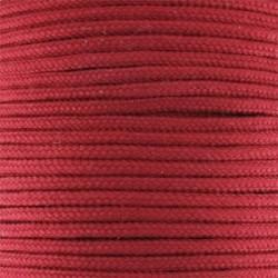 Fil TRESSE de SOIE Rouge 1.5 mm - Vendu au mètre