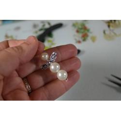 """Kit  boucles Oreille """"Anges"""" perles nacrées pour réalisation DIY"""