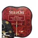 "Encre Permanente STAZON Rouge ""Vin de Bordeaux"""