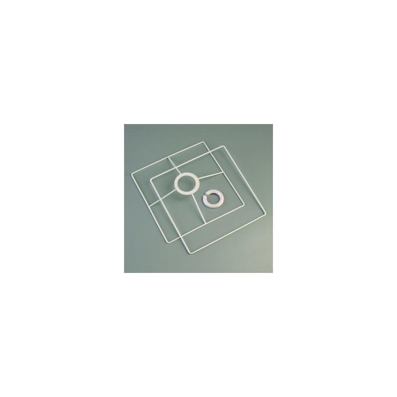 Ossature armature Abat-jour carré tête, 20x20cm, en 2 éléments
